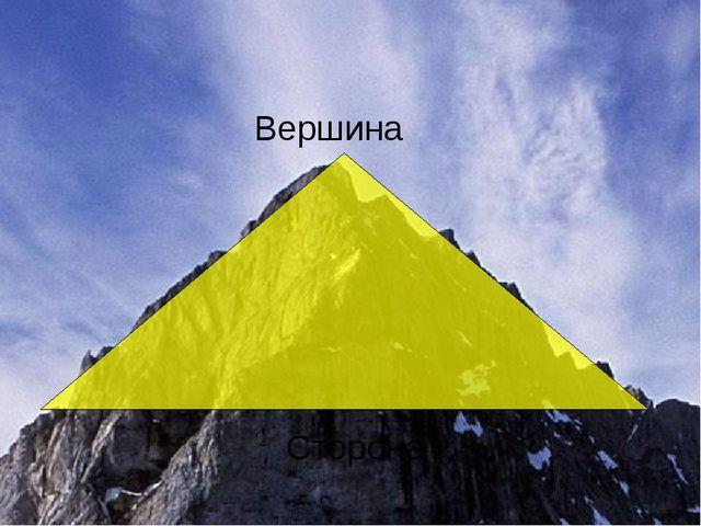 Вершина Сторона