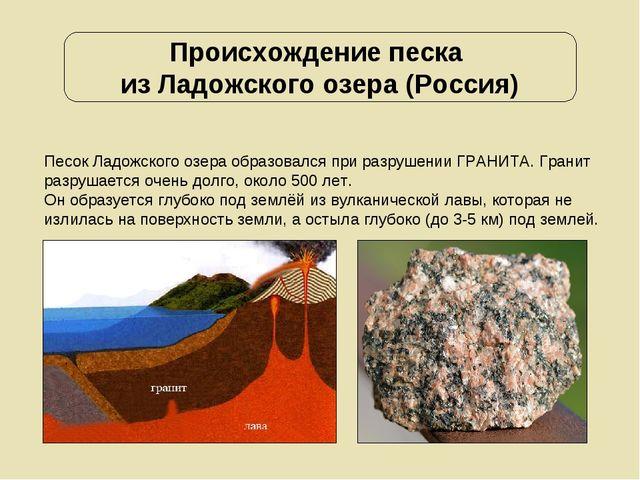 Происхождение песка из Ладожского озера (Россия) Песок Ладожского озера образ...