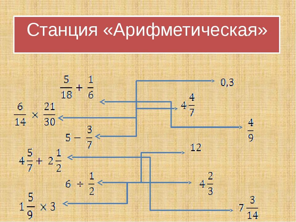 Станция «Арифметическая»