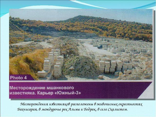 Месторождения известняков расположены в живописных окрестностях Бахчисарая,...