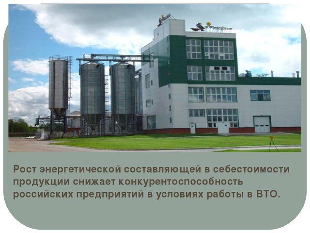 Рост энергетической составляющей в себестоимости продукции снижает конкуренто...