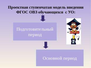 Проектная ступенчатая модель введения ФГОС ОВЗ обучающихся с УО: Подготовител
