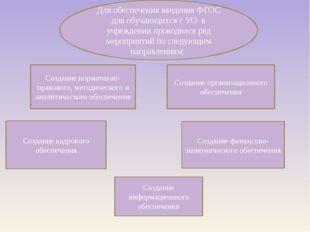 Создание нормативно-правового, методического и аналитического обеспечения Соз