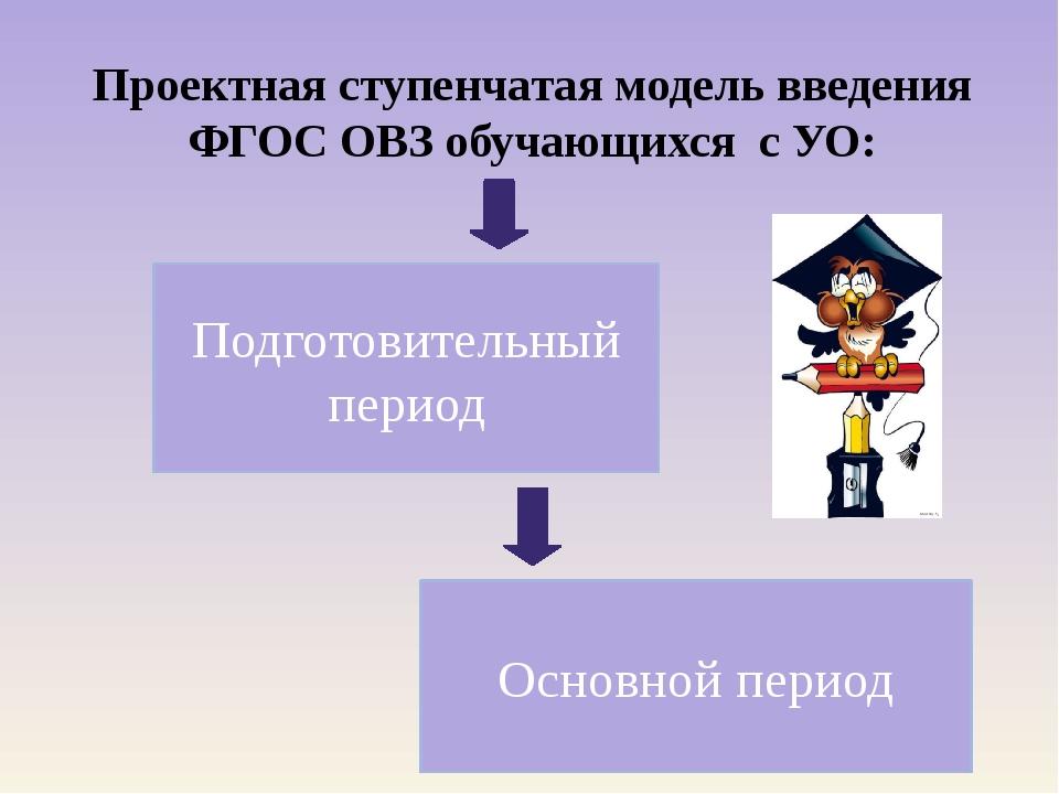 Проектная ступенчатая модель введения ФГОС ОВЗ обучающихся с УО: Подготовител...