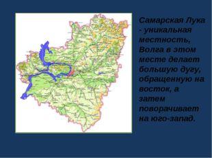 Самарская Лука - уникальная местность, Волга в этом месте делает большую дугу