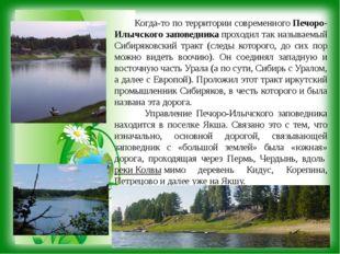 Когда-то по территории современногоПечоро-Илычского заповедникапроходил та