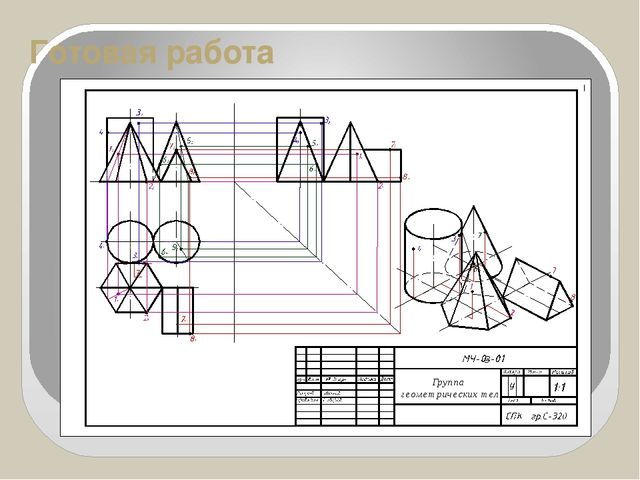 Готовая работа Группа геометрических тел
