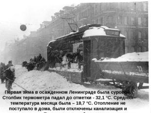 Первая зима в осажденном Ленинграде была суровой. Столбик термометра падал до