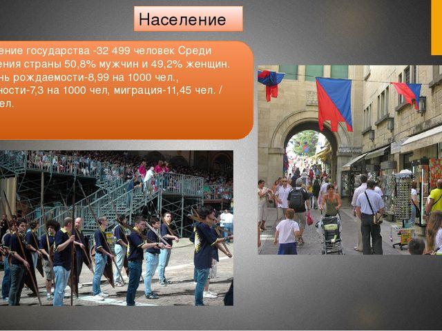 Население Население государства -32 499 человек Среди населения страны 50,8%...