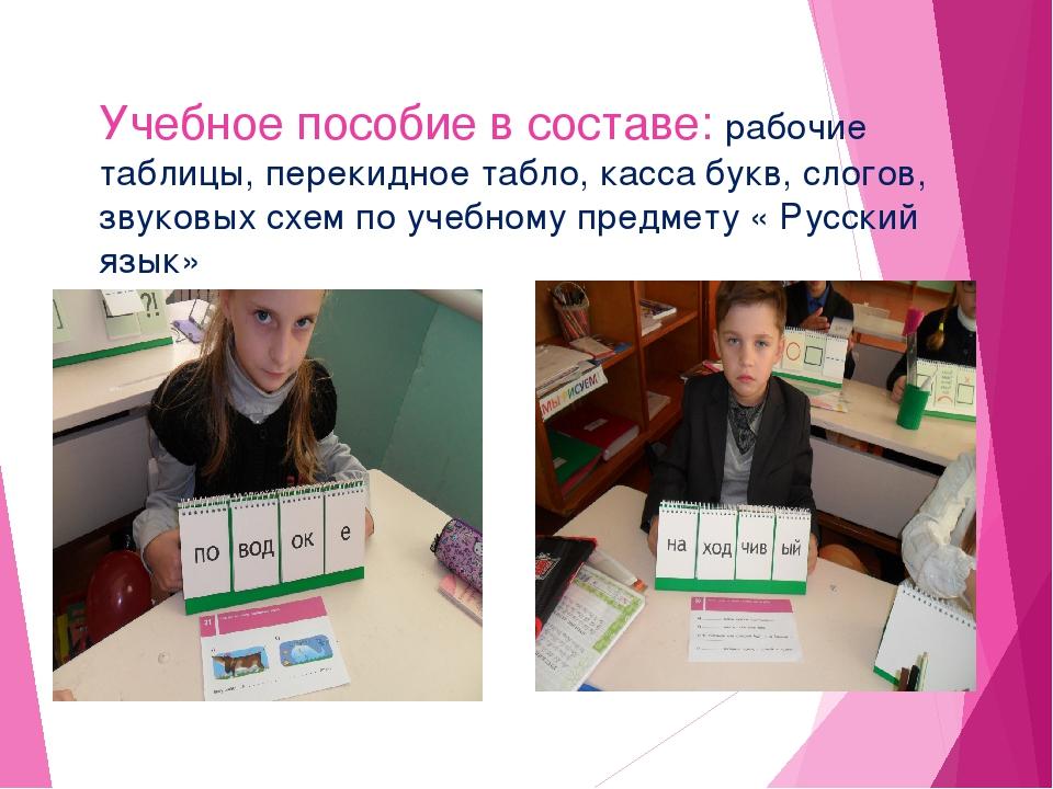 Учебное пособие в составе: рабочие таблицы, перекидное табло, касса букв, сло...