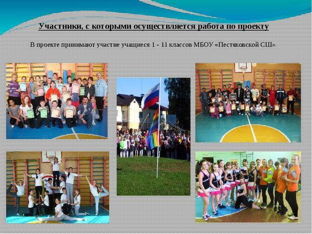 Участники, с которыми осуществляется работа по проекту В проекте принимают уч...