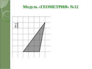 Модуль «ГЕОМЕТРИЯ» №12