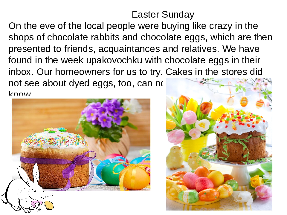 Easter Sunday On the eve of the local people were buying like crazy in the s...