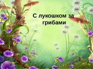 С лукошком за грибами