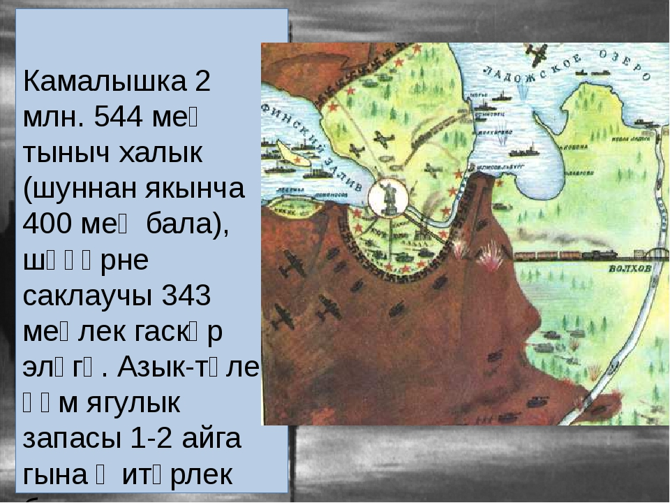 Камалышка 2 млн. 544 мең тыныч халык (шуннан якынча 400 мең бала), шәһәрне с...
