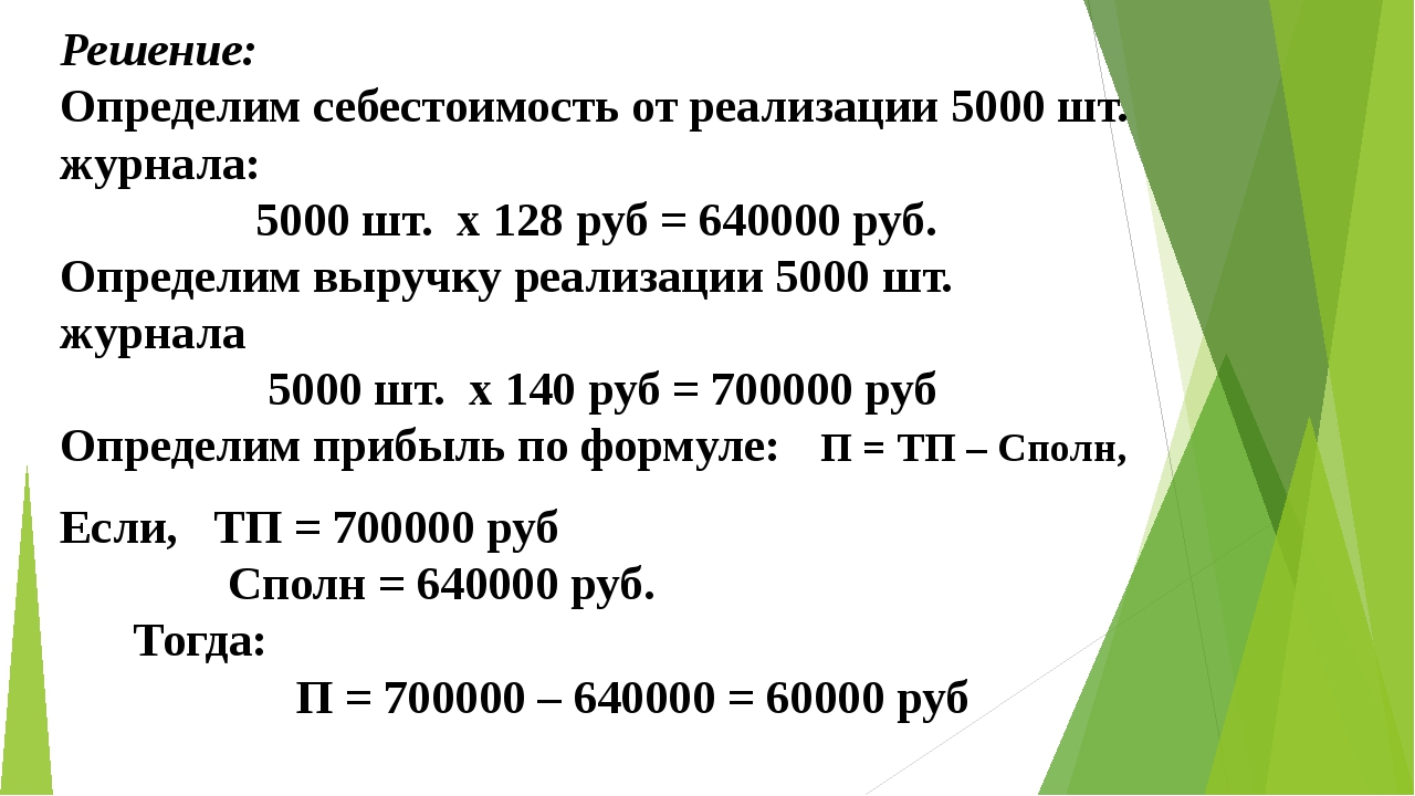 Решение: Определим себестоимость от реализации 5000 шт. журнала: 5000 шт. х...