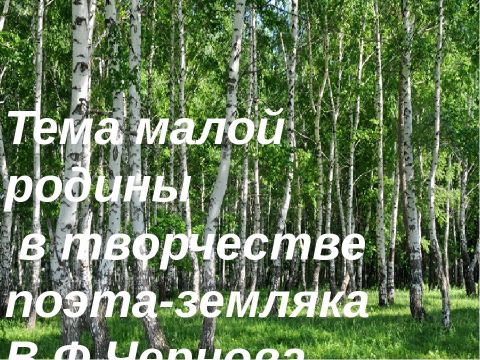 Тема малой родины в стихах поэтов тужинских поэтов Тема малой родины в творче...