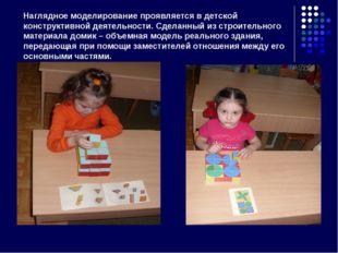 Наглядное моделирование проявляется в детской конструктивной деятельности. Сд