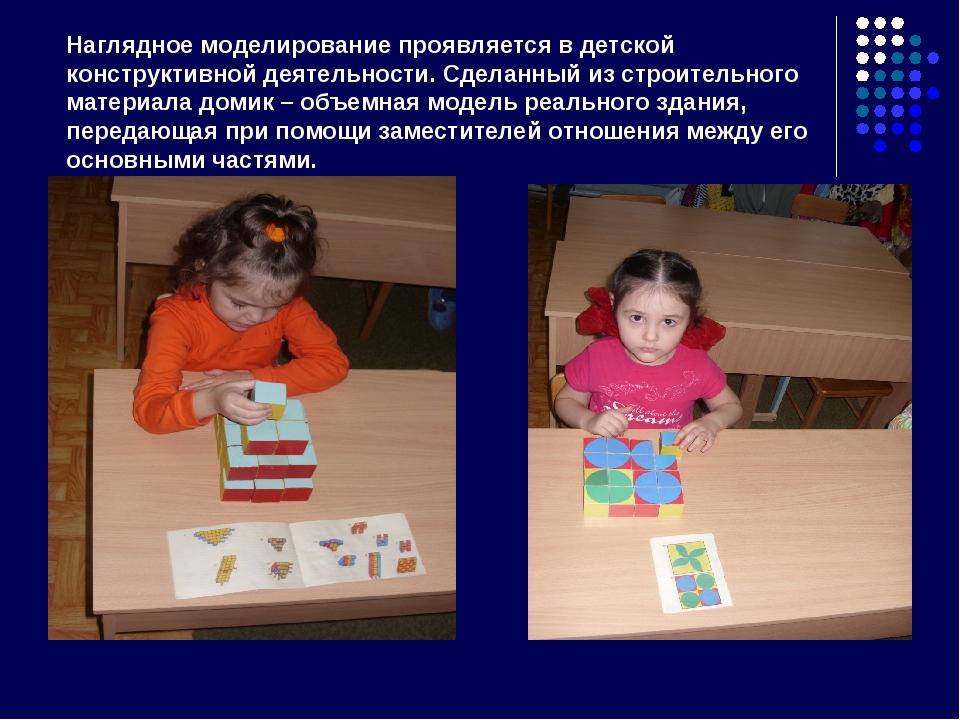 Наглядное моделирование проявляется в детской конструктивной деятельности. Сд...