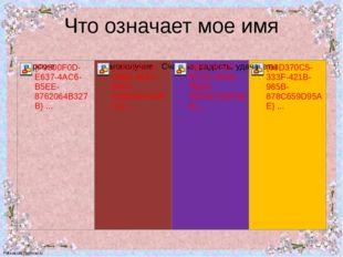 Что означает мое имя FokinaLida.75@mail.ru