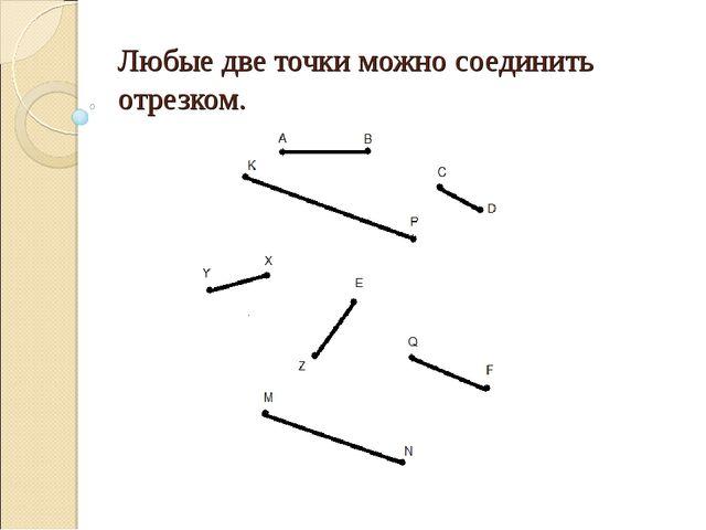 Любые две точки можно соединить отрезком.