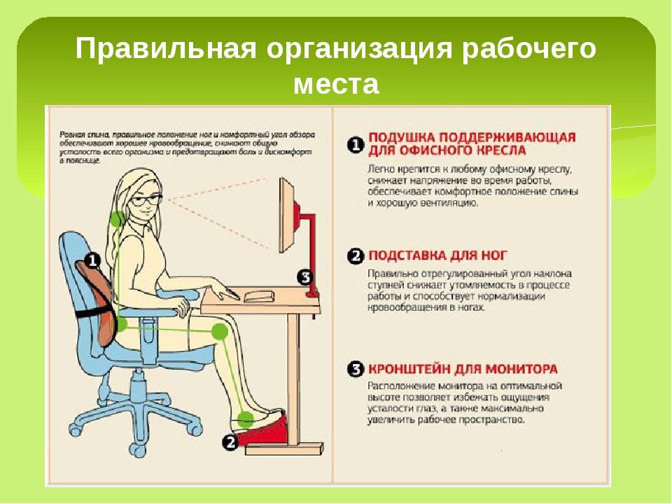 Правильная организация рабочего места