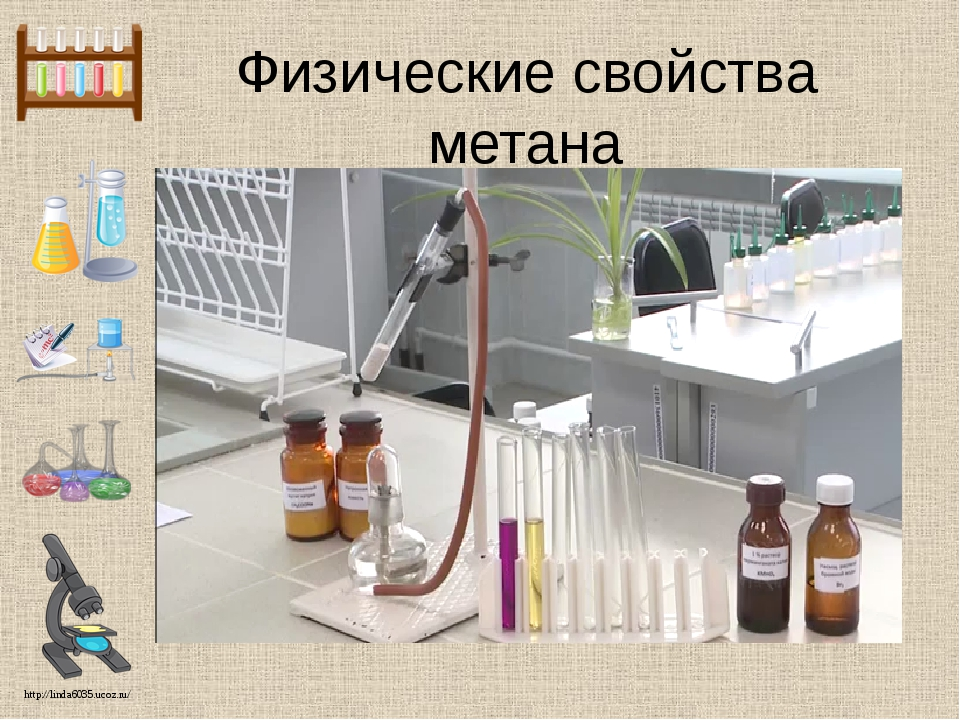 Физические свойства метана http://linda6035.ucoz.ru/