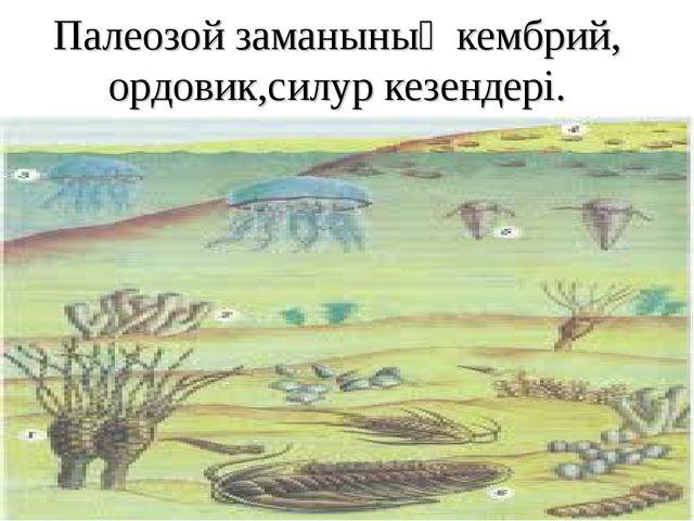 Палеозой заманының кембрий, ордовик,силур кезендері.