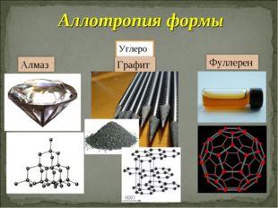 Углерод Аллотропия формы