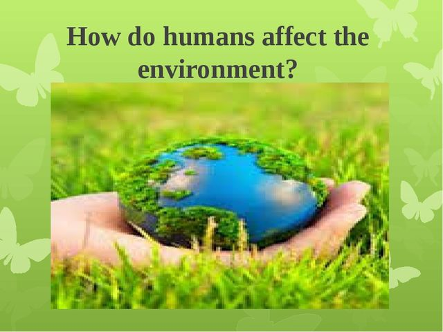 How do humans affect the environment?