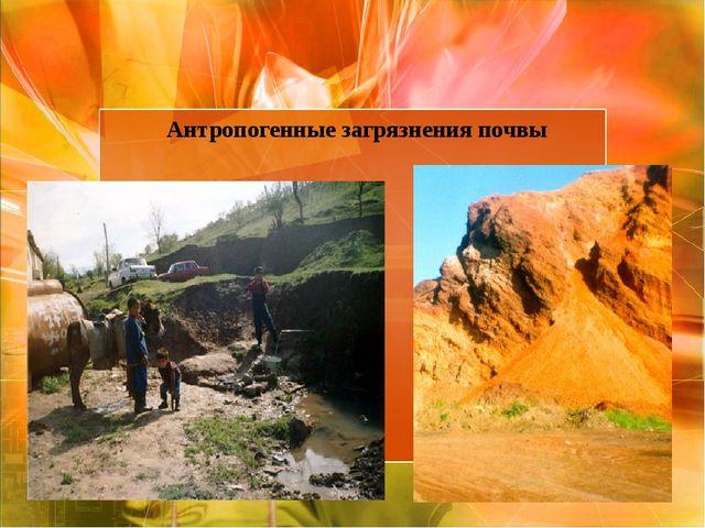 Антропогенные загрязнения почвы
