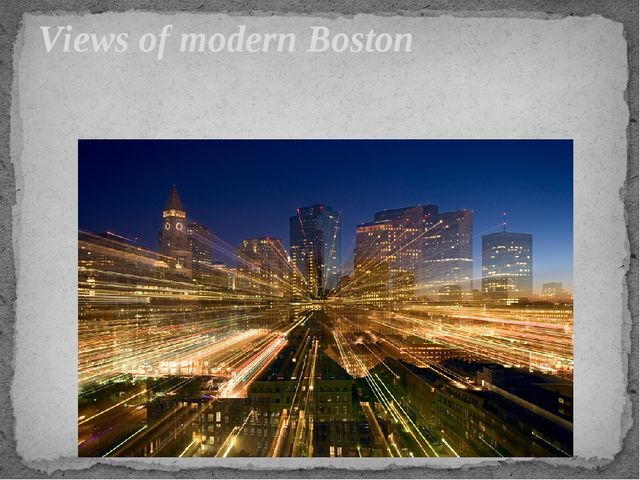 Views of modern Boston