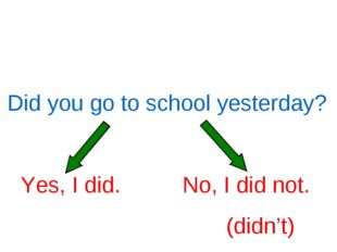 Did you go to school yesterday?