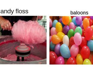 candy floss baloons