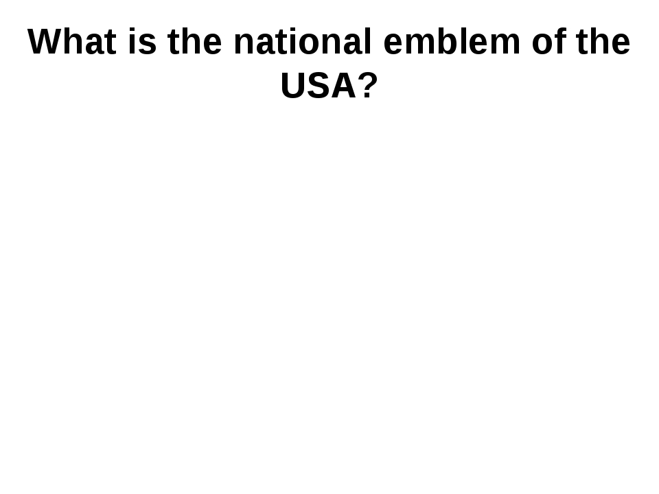 What is the national emblem of the USA?