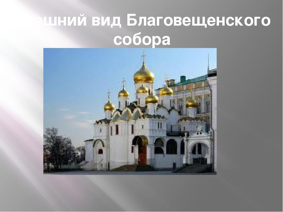 Внешний вид Благовещенского собора