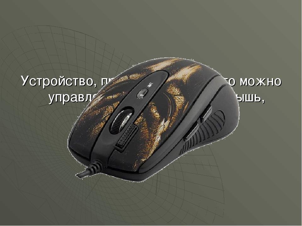 Устройство, при помощи которого можно управлять игрой на экране: мышь, указка...