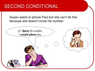 Susan wants to phone Paul but she can't do this because she doesn't know his