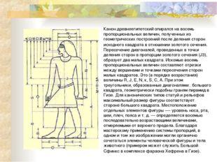 Канон древнеегипетский опирался на восемь пропорциональных величин, полученны