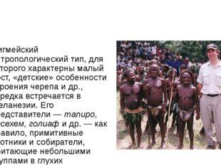 Пигмейский антропологический тип, для которого характерны малый рост, «детск