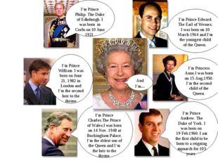 I'm Prince Philip. The Duke of Edinburgh. I was born in Corfu on 10 June 1921