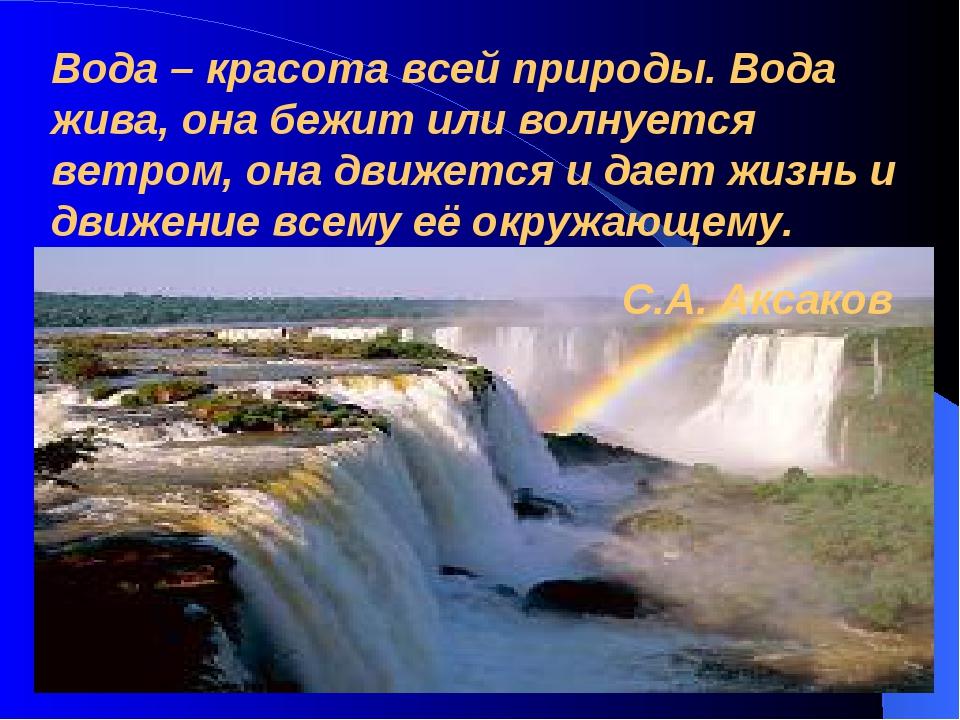 Вода – красота всей природы. Вода жива, она бежит или волнуется ветром, она д...
