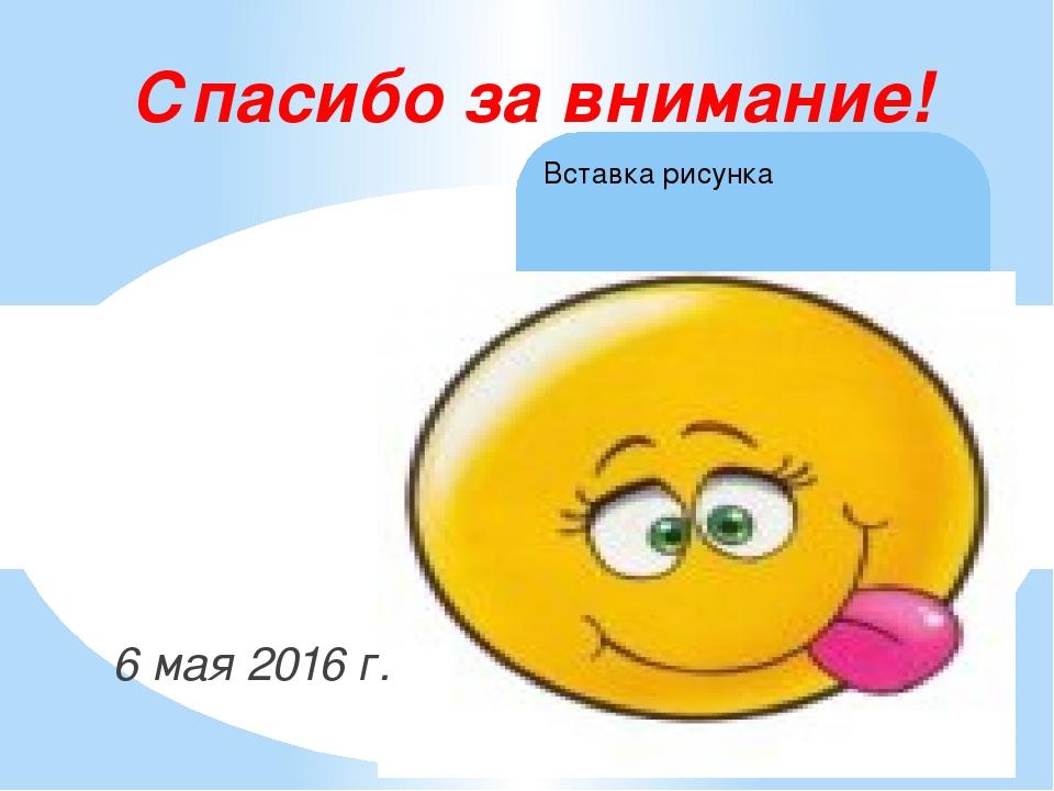 6 мая 2016 г. Спасибо за внимание!