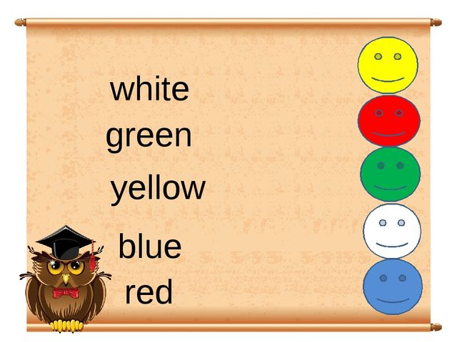 white red green blue yellow
