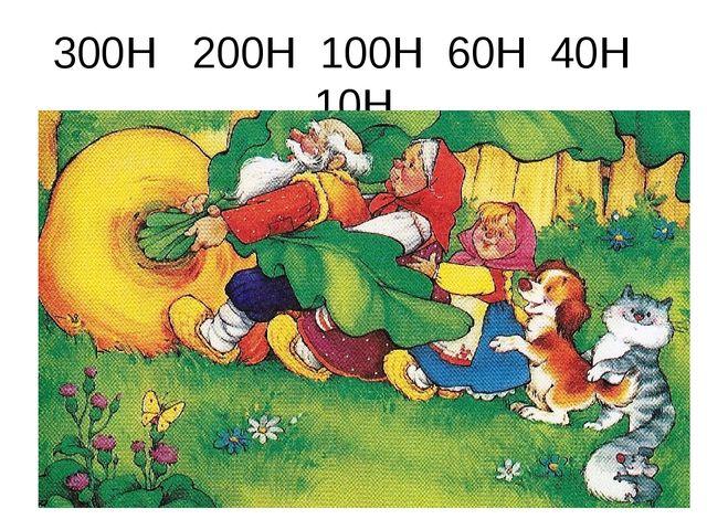 300Н 200Н 100Н 60Н 40Н 10Н