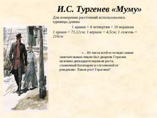 И.С. Тургенев «Муму» «…Из числа всей ее челяди самым замечательным лицом был