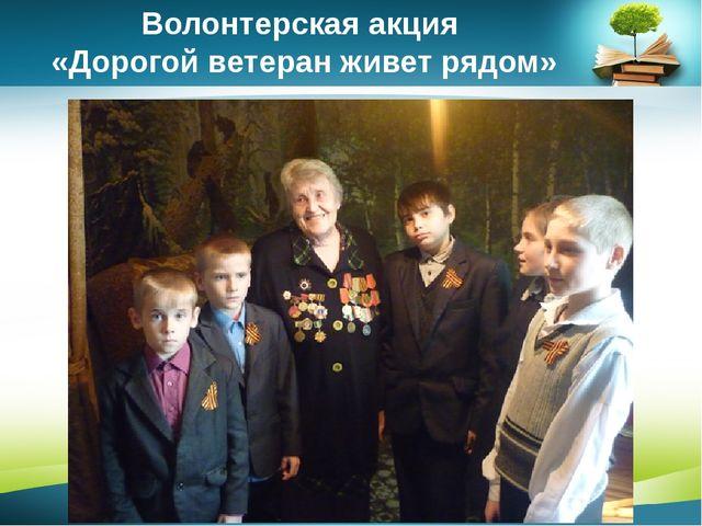 Волонтерская акция «Дорогой ветеран живет рядом» www.PresentationPro.com