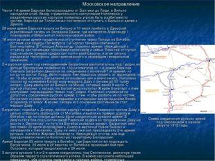 Московское направление Части 1-й армии Барклая были раскиданы от Балтики до Л
