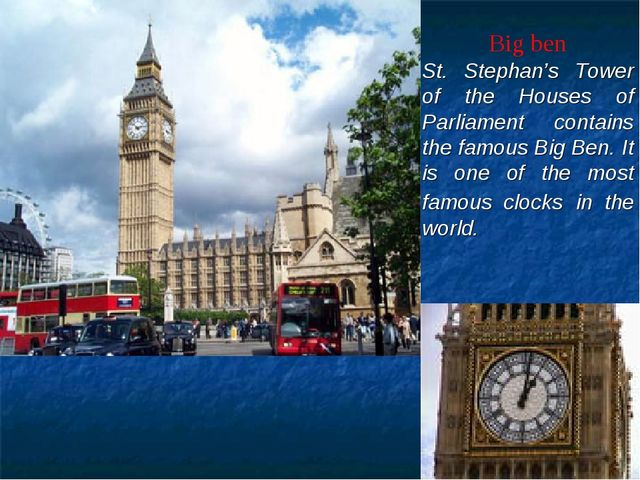Big ben St. Stephan's Tower of the Houses of Parliament contains the famou...