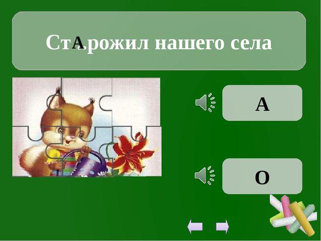 Ст ..рожил нашего села А А О